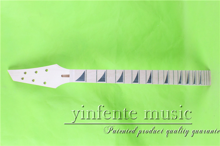 jkx-0097#      25.5 Electric guitar neck   Bolt on maple   fingerboard fine quality  24 fret mantra 0097