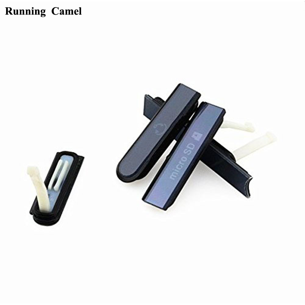 Running Camel For Sony Xperia Z L36H L36 C6602 C6603 C6606 C660X New USB Port+Earphone Jack+Micro SD+SIM Card Dust Plug Cover