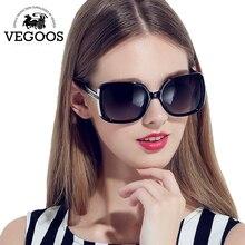 VEGOOS Primera Marca de Lujo mujeres Retro Gafas de Sol Gafas de Sol de Metal Templos gafas de Sol Lunettes Gafas de Sol #9018