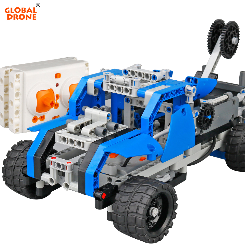 Global Drone Building Blocks Brain Game Remote Control Vehicle DIY Blocking Constructor Car Radio Control Toys