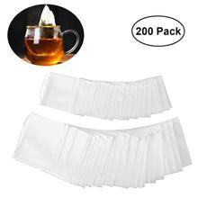200pcs Drawstring Tea Bag Filter Paper Empty Tea Pouch Bags