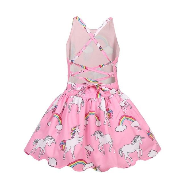 Sleeveless Unicorn Party Dress and Headband