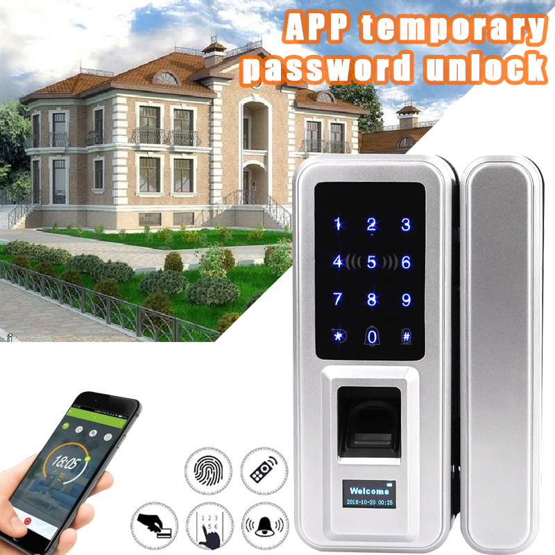 Touch Screen RFID Card Keyless Smart Lock Electric Fingerprint Lock Intelligent Glass Fingerprint Lock Password Smart Opener Мотоцикл