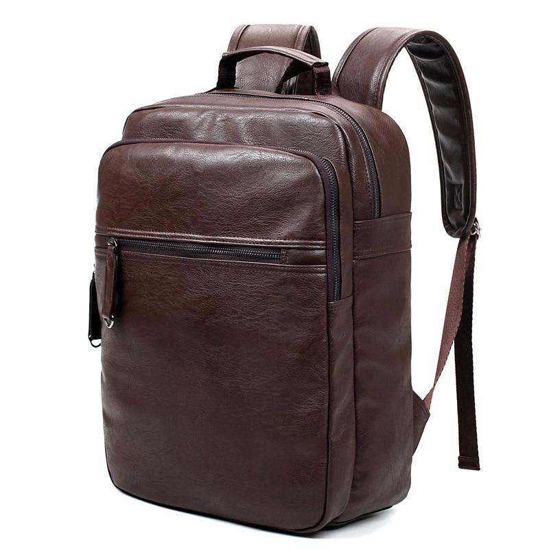 Luxe merk bookbags mannen rugzak leer mannelijke functionele tassen - Rugzakken - Foto 6