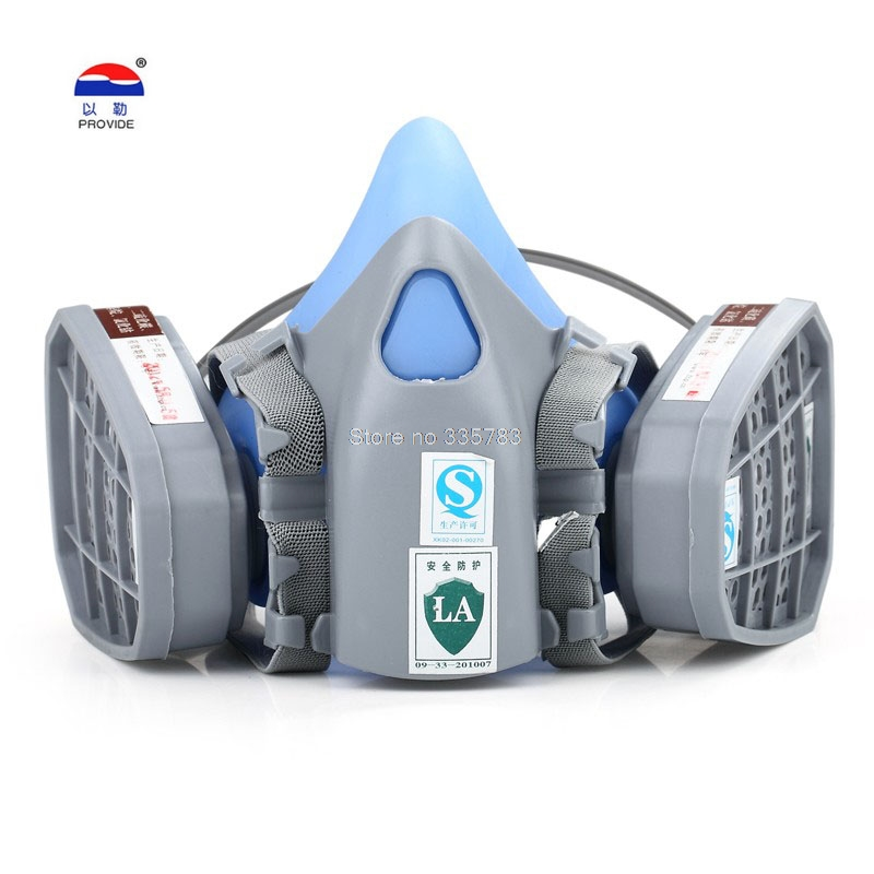 PROVIDE respirator gas mask Silica gel Shell body + Activated carbon filter gas mask pesticide paint new gas mask недорого