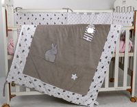 Cotton Comforter Cover Baby Velvet Quilt Applique 115 90cm Toddler Girl Boy Crib Beddding Cartoon Cheap