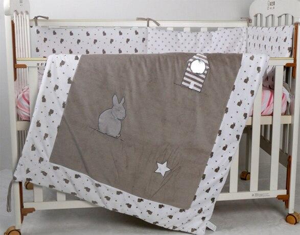 Cotton comforter cover baby velvet quilt applique 115*90cm toddler girl boy crib beddding cartoon cheap cot quilts