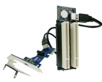 PCI express x1 PCIe TO 2 PCI Adapter Router Dual PCI slot Riser Card usb3.0 low profile bracket