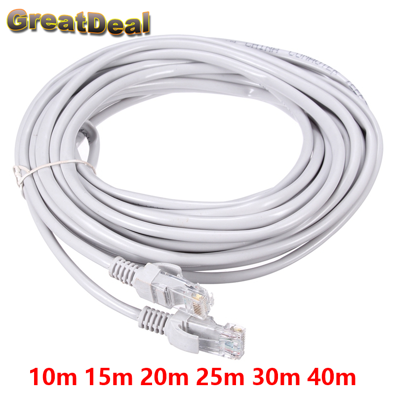 8Pin CAT5E CAT5 RJ45 Cable Internet Network Patch LAN Ethernet Cable Cord For Computer 10m 15m 20m 25m 30m 40m HY1543 100m cat5 5e 8 pin intertek high speed lan network cable utp copper core wire twisted pair ethernet cables internet cable for pc