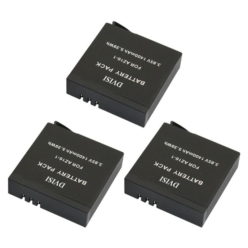 4pcs 3.85V 1400mAh for Xiaomi YI2 II YI 2 II 1400mA Rechargeable Battery for Xiaomi YI 4K Action Camera II 2 Sport Action Camera