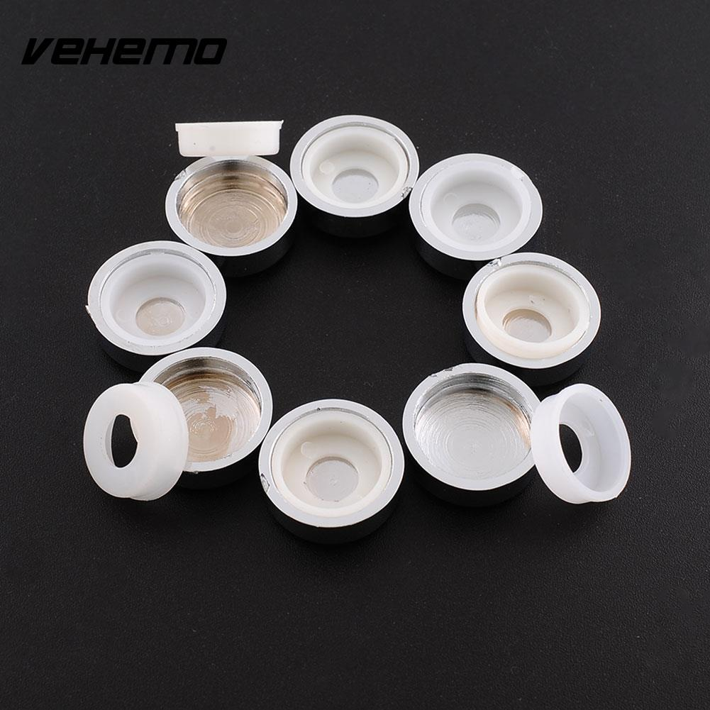 8pcs White Chrome Caps License Plate Tag Frame Screw Nut Covers Adapter Rings License Plate Frame Bolt Nut Bolt Head Cover Cap