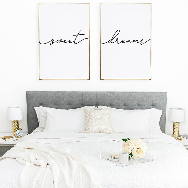 Modern Wall Art Minimalist Poster Above Bed Art Decor