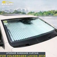 Gelinsi For Volkswagen Lavida 2018 Car Front Windshield Sun Shade Curtain Sunshade Mesh Sun Visor Summer Film