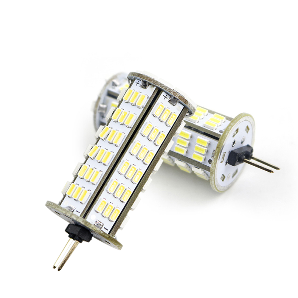 126LEDs 3014 SMD AC DC 12V <font><b>24V</b></font> <font><b>G4</b></font> <font><b>Led</b></font> <font><b>Bulb</b></font> Corn <font><b>Light</b></font> Spotlight Chandelier Replace Lamps White/Warm White 4W 1PCS JQ image