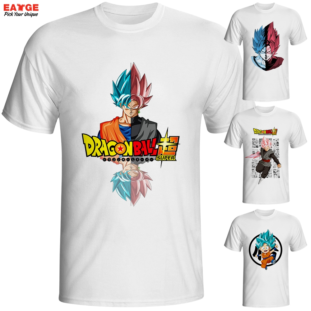 T shirt japanese design - Dragon Ball Super Saiyan Rose T Shirt Japanese Anime Goku Black T Shirt Cool Fashion Cartoon Super Printed Tshirt Brand Men Tee