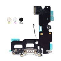 Home Button Fingerprint Repair Flex Cable USB Charging Dock Flex Cable For IPhone 7 7Plus free shipping