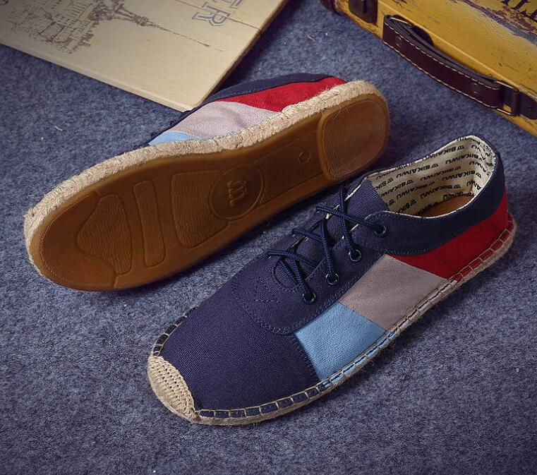Men's Shoes Latest Collection Of 2018 New Canvas Shoes Flax Boy Flaxen Straw Handmade Shoes Hemp Splice Lattice Men Shoes Lace Up Nature Material39-45 F007 Back To Search Resultsshoes