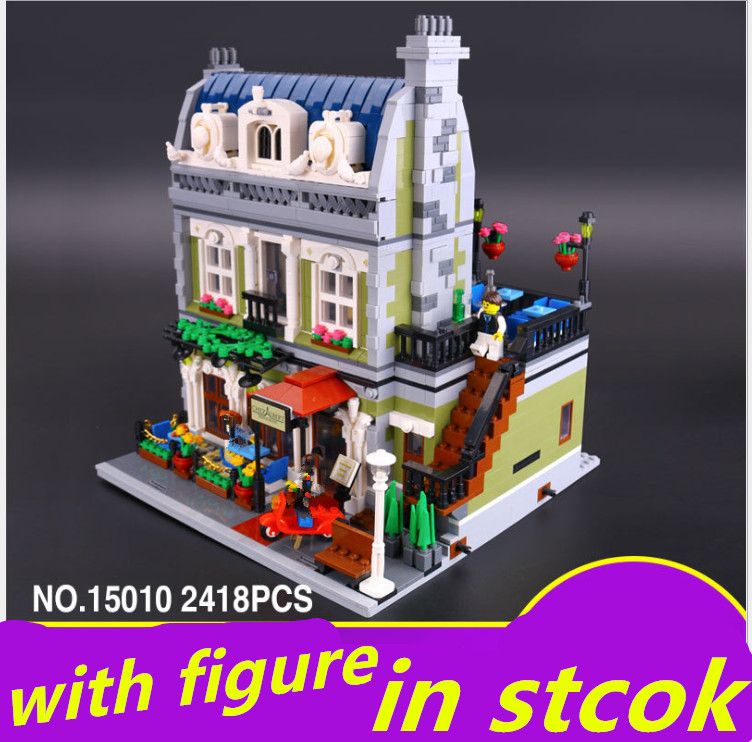 Compatible legoing parisian restaurant 10243 Lepin Creator Expert 15010 lepin parisian restaurant  City Street  Building Blocks dhl new 2418pcs lepin 15010 city street parisian restaurant model building blocks bricks intelligence toys compatible with 10243
