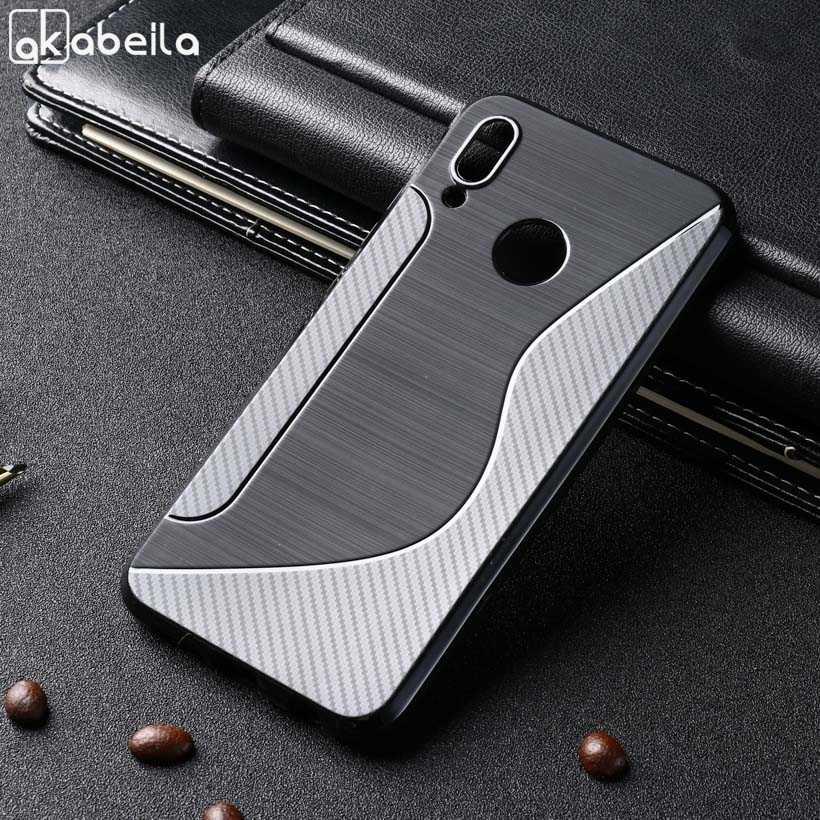 Negro suave TPU para Huawei P20 Lite caso P10 Plus Mate 10 Lite 20 Pro Nova 3i 3 2 más 2i P Smart Plus Honor 9i 2017 cubierta