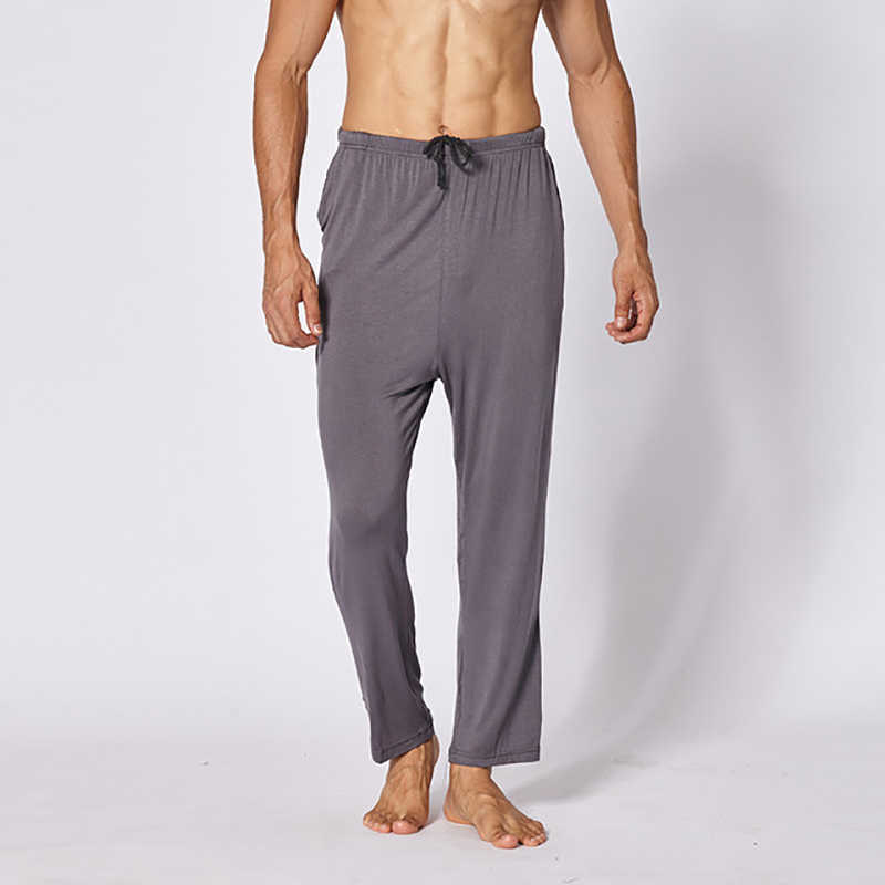 BZEL 2019 плюс размер Домашняя одежда мужские хлопковые пижамы для сна свободные пижамы пижамные штаны мужские однотонные дышащие штаны для отдыха