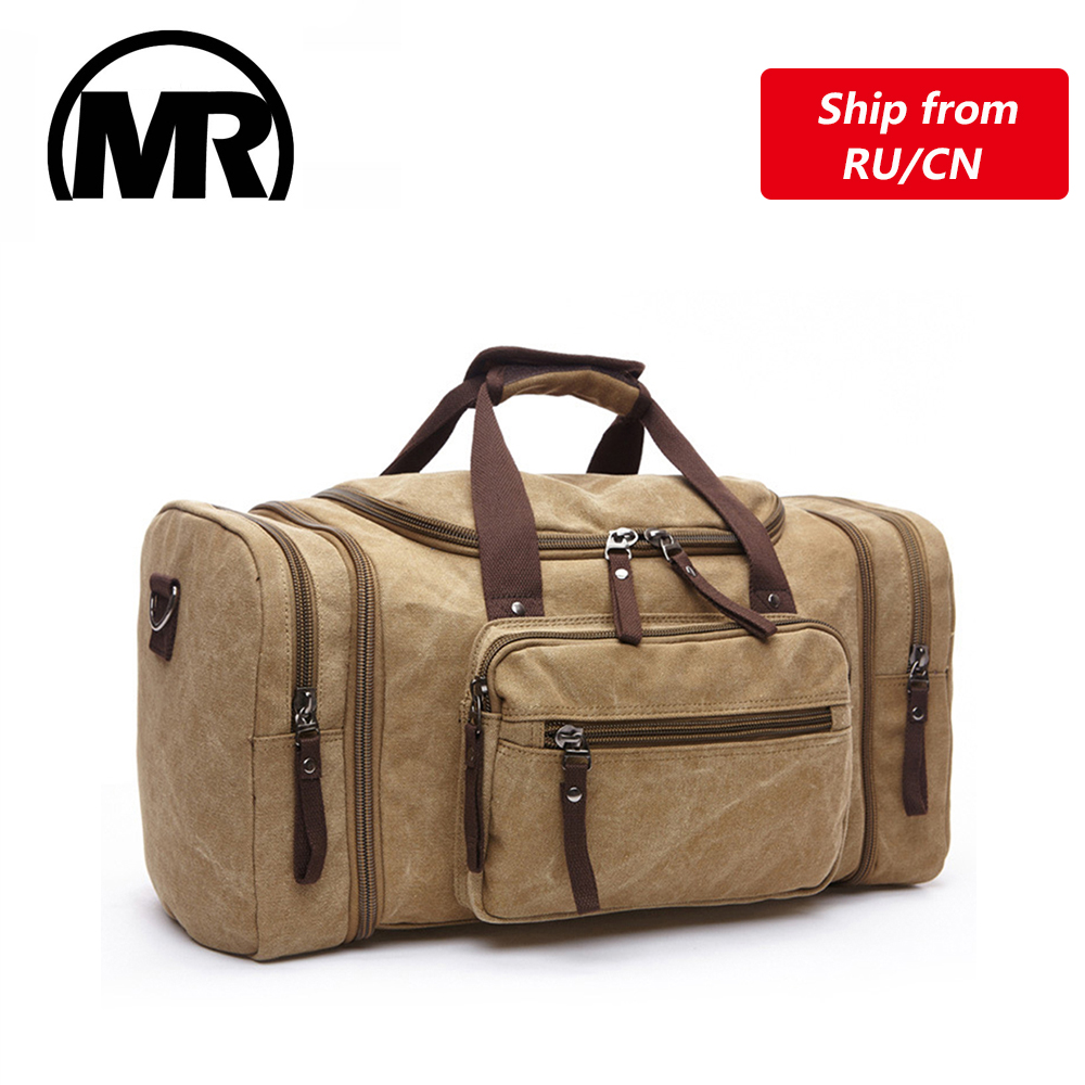 MARKROYAL Soft Canvas Men Travel Bags Carry On Luggage Bags Men Duffel Bag Travel Tote Weekend Bag High Capacity Dropshipping