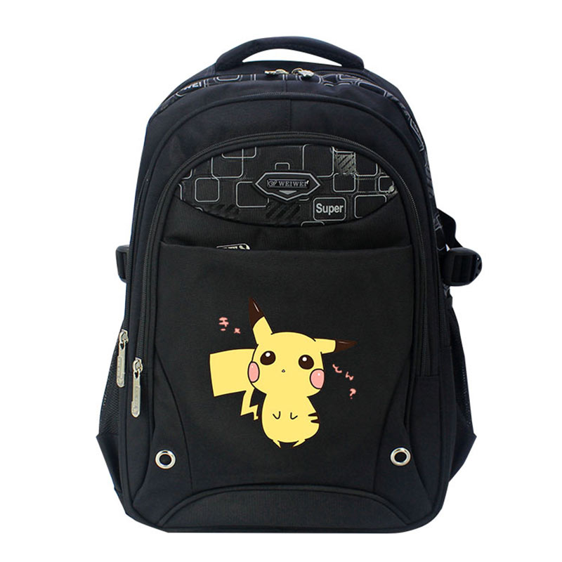 Anime Pokemon Backpack Pocket Monster School Bag mochila Pikachu School Backpacks Girls Boys Toddler Bag Kids Book Bags boys girls backpack top quality baby shoulder bag unisex kids dinosaur pattern animals toddler school bag gift mochila 17aug8