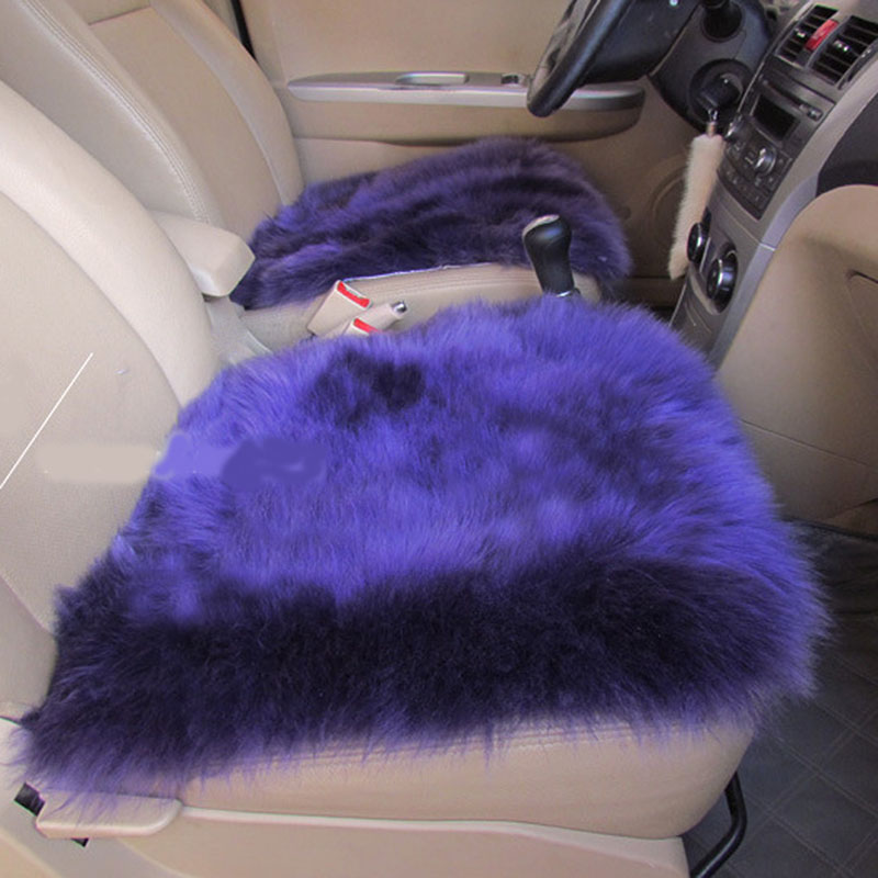 Purple wool seat cover
