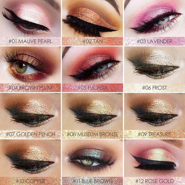 FOCALLURE 18 colors Glitter Eyeshadow powder good pigmented professional eyeshadow waterproof Glitter powder Glitter makeup 2