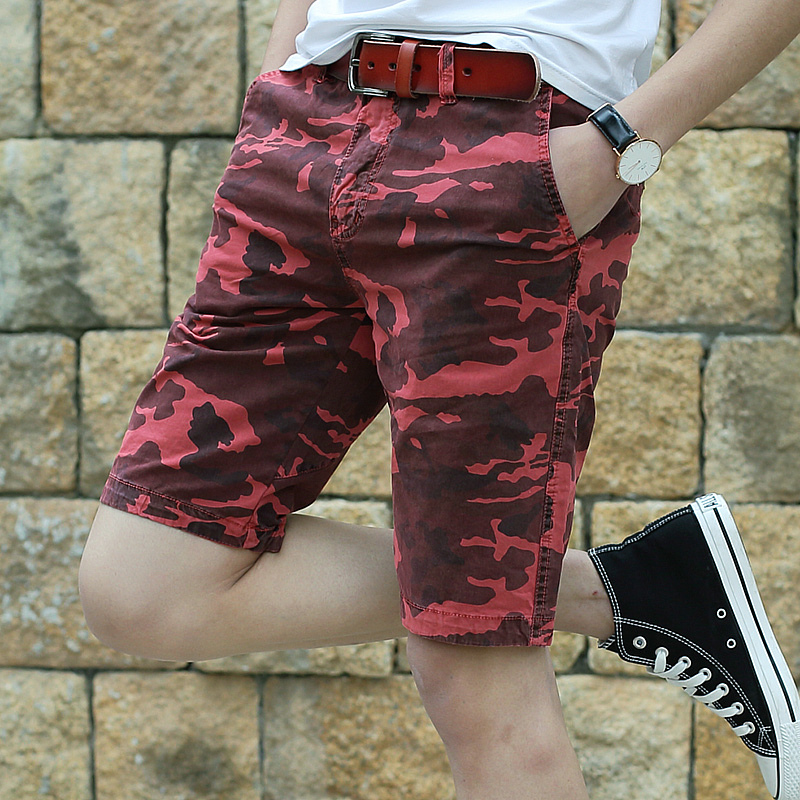 Cargo Shorts Men Camouflage Summer Cotton Casual Short Slim Shorts Male Bermuda Masculina
