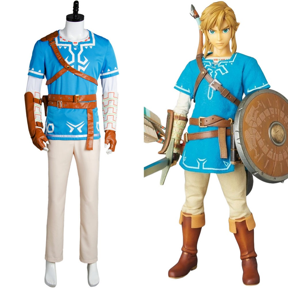 Halloween Zelda Breath Of The Wild Link Outfit Sheikah Slate Uniform Quiver Cosplay Costume Game Anime Sets