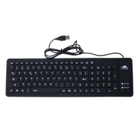 French Silicone Keyboard USB 2 0 Silicone Roll Up Foldable Computer Keyboard For PC