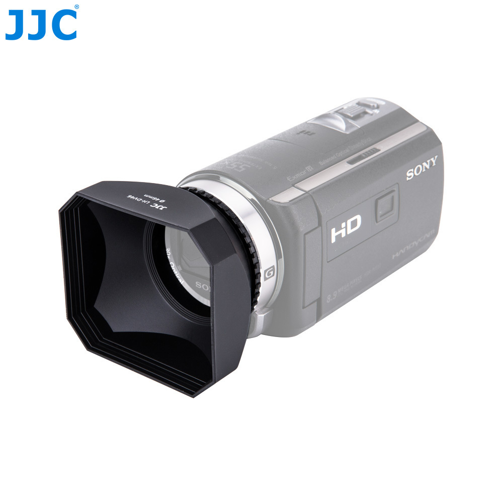 JJC Camcorder DV Screw Hood 30/37/43/46/58mm Video Lens Hood For Canon LEGRIA HF R806/R86/Sony FDR-AX700/HDR-CX680/Panasonic/JVC