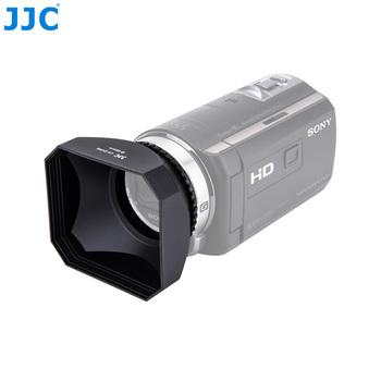 JJC kamera DV śruba kaptur 30 37 43 46 58mm osłona obiektywu wideo dla Canon LEGRIA HF R806 R86 Sony FDR-AX700 HDR-CX680 Panasonic JVC tanie i dobre opinie DV Hood Black 80*67*40mm 135*90*56mm CN (pochodzenie) LH-DV Series