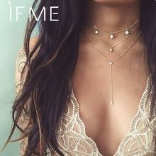 Vintage Multilayer Crystal Pendant Choker Necklaces RK