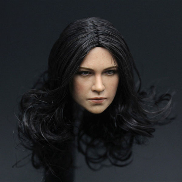 Mnotht 1/6 Female Head Carving Michel Rodriguez Fast & Furious Machete soldier Carved Head Model Toys l25 die shi spot burning the soul of a model burns 1 6 head carved figures are base contains mask