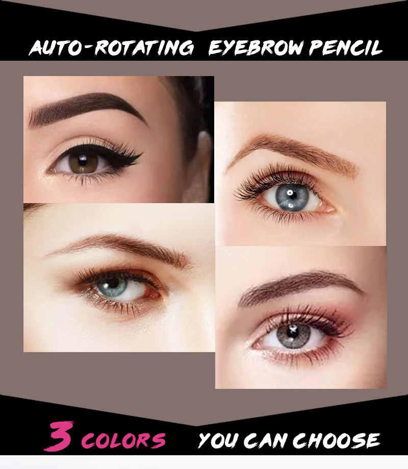 3 kolor podwójnie zakończony odcień brwi ołówek kosmetyki farba tatuaż Eye Brow wodoodporny długotrwały obrotowy długopis TSLM2
