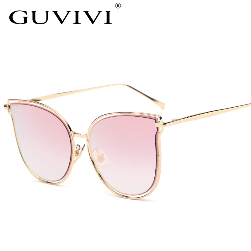 2017 GUVIVI Gato olho Óculos De Sol Das Mulheres Dos Homens Do Vintage  óculos de Sol Marca Designer óculos de Sol Feminino oculos de sol feminino  GY-939 c65535d9f6