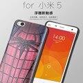 Xiaomi Mi 5 caso de la cubierta estéreo 3D pintura alivio contraportadas para Xiaomi Mi5 M5 cajas finas silicio TPU casos de protección Superman