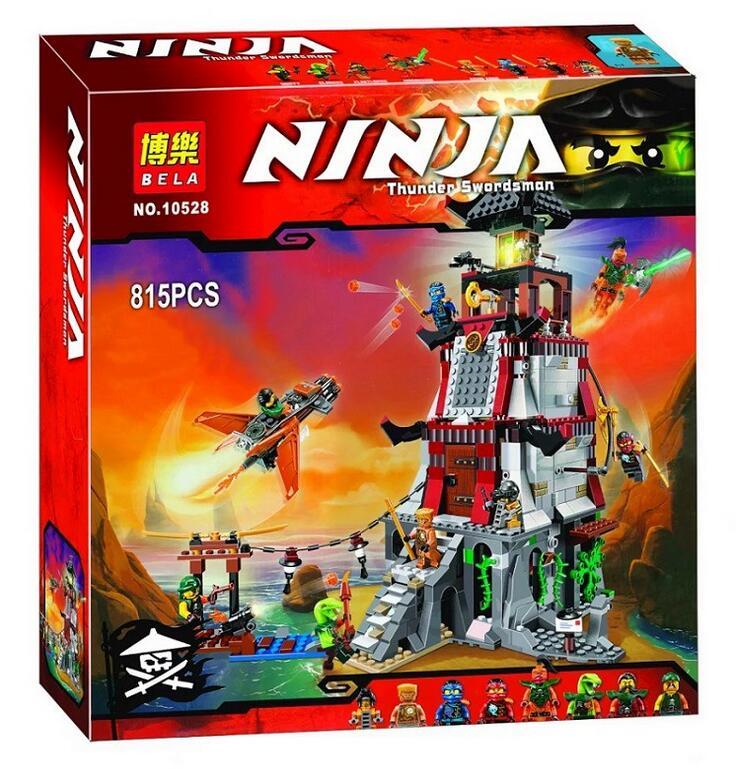 815pcs 2016 Bela 10528 phantom Ninja The Lighthouse Siege Building font b Blocks b font Minifigures
