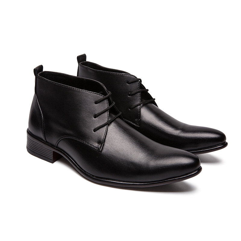 Man Wedding Dress Shoes Mens Pointed Toe Oxford Boot Ankle Classic Formal Suit Boat Male Shoes Business Social Casual Footwear