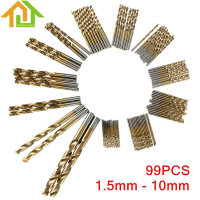 99pcs High Speed Steel Titanium Coated HSS Drill Bit Set Tool 1 5mm 10mm Drill Bit