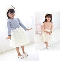 Girls Dresses Spring Autumn Baby Girl Dress Mesh Patchwork Princess Girl Dress Long Sleeve Toddler Kids Dresses for Girls