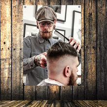 Vintage Barber Shop Poster Senior Art Waterproof Cloth Painting Large Flag Banner Tapestry Wall Stickers Mural Wall Decoration(China)
