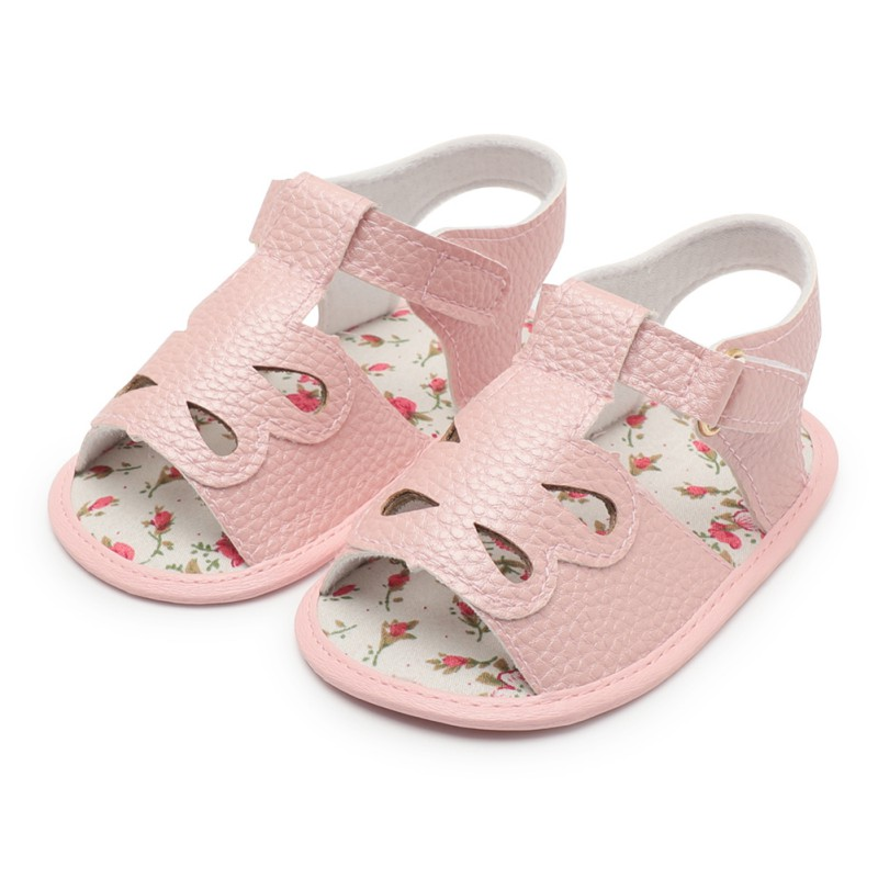 Baby girl shoes for kids baby girl summer red bottom shoes PU leather princess drop opening toddler First Walkers