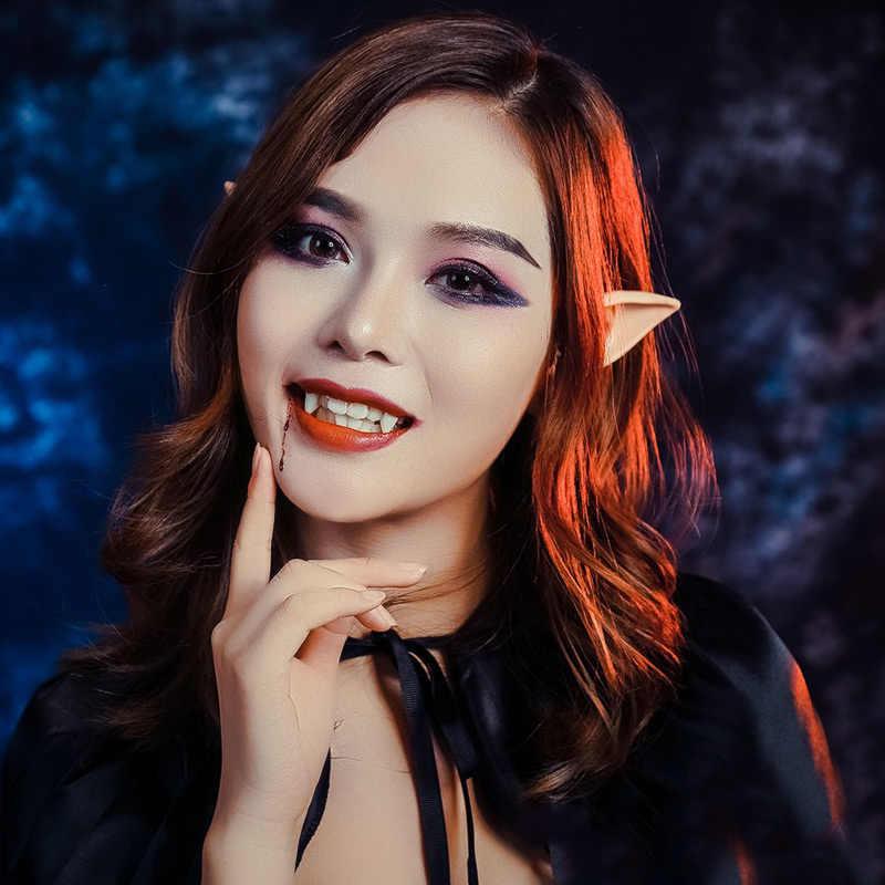 1 Pasang Lateks Telinga Elf Pesta Cosplay Props Hadiah Halloween Kostum Persediaan TT @ 88