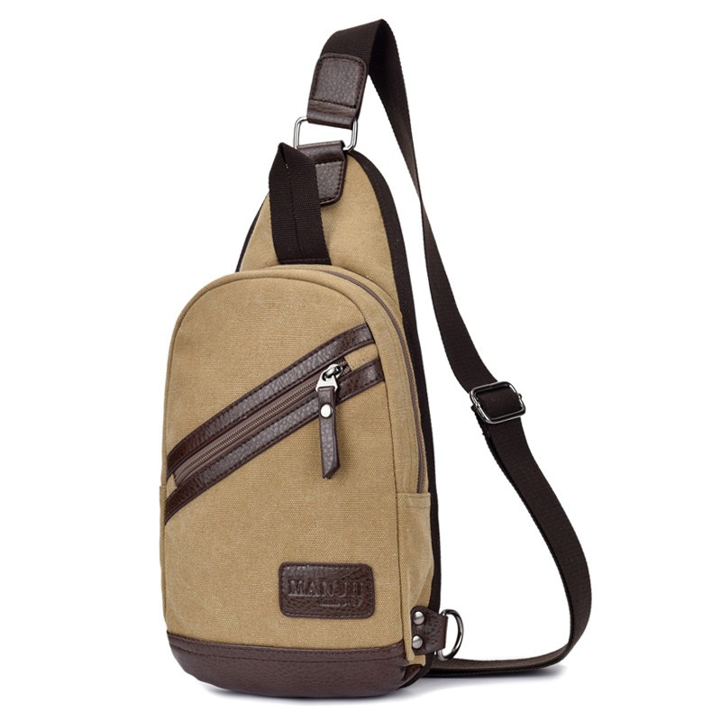 Huge Sales New Model Man Bag Canvas Bags Popular Single Shoulder Bag Traveler Convenient Small Bag