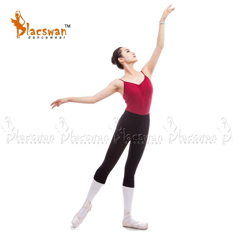 Cotton Lycra Fitness Capri Legging Women Dance Pants 3/4 Jazz Pants Adult dancwear spandex knee length dance pants JP573