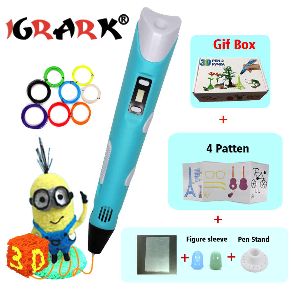 Bolígrafo 3d con filamento PLA de 1,75 MM, bolígrafo lapiz, bolígrafo de impresión 3d para niños, regalo de cumpleaños, bolígrafo de dibujo de plástico, el mejor regalo para niños