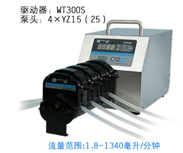 WT300S 4xYZ25 Lab Food Industrial Basic Speed Variable Peristaltic Filling Dosing Pump 50-990ml/min as12 300 25 4 20