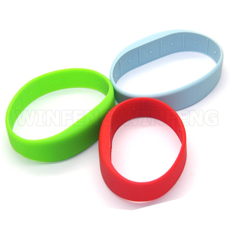 Proximity 125KHZ RFID Wristband Swimming Pool TK4100 EM4100 RFID Silicone Bracelet RFID Tag Water-proof Black For Event